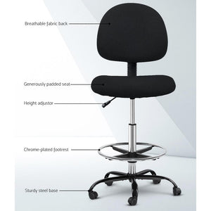 Ethan Adjustable Drafting Chair, Black