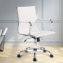 Load image into Gallery viewer, Eames Replica Office Chair, Mid Back, Leather, White