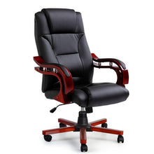 Load image into Gallery viewer, Artiss Executive Wooden Office Chair Wood Computer Chairs Leather Seat Sherman