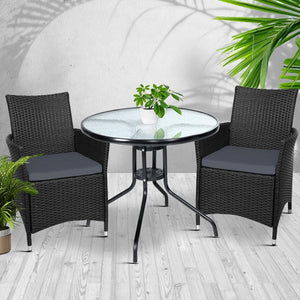 Outdoor Dining Chair & Table Set, Wicker