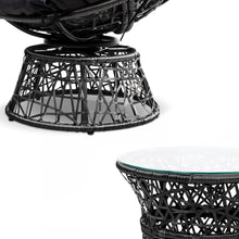 Load image into Gallery viewer, Papasan Outdoor Chairs & Table, Wicker, Black