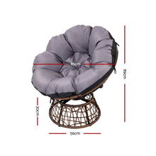 Load image into Gallery viewer, Papasan Outdoor Chairs & Table, Wicker, Brown