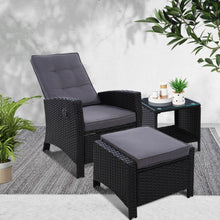 Load image into Gallery viewer, Roshan Lounge Set, Wicker, Black