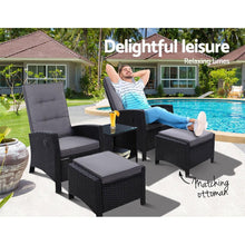 Load image into Gallery viewer, Roshan Lounge Set, 2 Seater, Wicker, Black