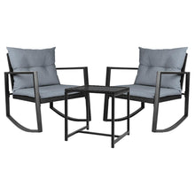 Load image into Gallery viewer, Gardeon Outdoor Chair Rocking Set - Black