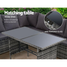 Load image into Gallery viewer, Reva Outdoor Dining Set, 8 Seater, Grey