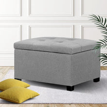 Load image into Gallery viewer, Storage Ottoman, Light Grey, 68cm x 68cm x 42cm