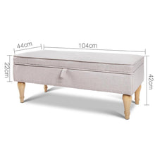 Load image into Gallery viewer, Storage Ottoman, Beige