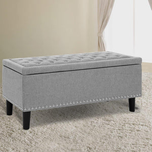 Ottoman Blanket Box, Light Grey
