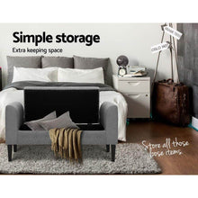 Load image into Gallery viewer, Storage Ottoman, Button Tufted, Light Grey