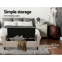 Load image into Gallery viewer, Aldine Storage Ottoman, Taupe