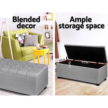 Load image into Gallery viewer, Dunhill Storage Ottoman, Grey