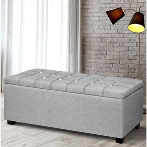 Dunhill Storage Ottoman, Grey