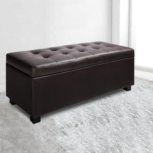 Load image into Gallery viewer, Bernd Storage Ottoman, Leather, Brown