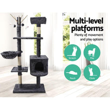 Load image into Gallery viewer, Maison Wooden Cat Tree, Dark Grey