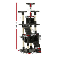 Load image into Gallery viewer, Cat Scratching Tower Post, Multi-Level, Grey, 180cm