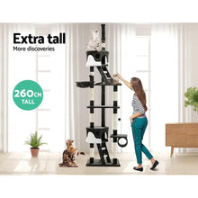Load image into Gallery viewer, Cat Scratching Tower Post, Multi-Level, Grey, 260cm