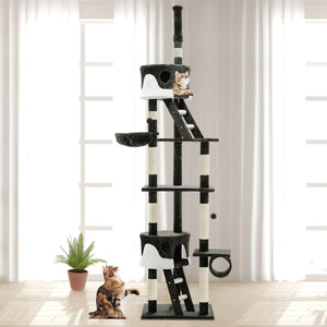 Cat Scratching Tower Post, Multi-Level, Grey, 260cm