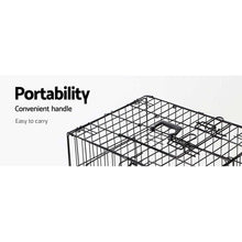 Load image into Gallery viewer, Pet Cage, Steel, Black, 30in