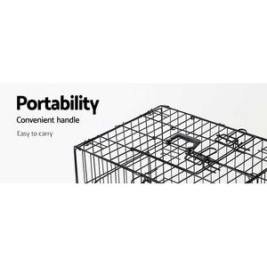Pet Cage, Steel, Black, 30in