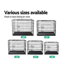 Load image into Gallery viewer, Pet Cage, Steel, Black, 42in