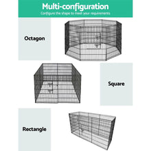 Load image into Gallery viewer, Pet Play Pen, 8 Panel, Black, 36in