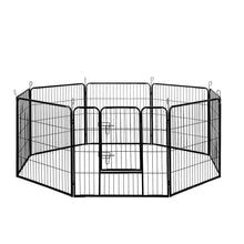 Load image into Gallery viewer, i.Pet 8 Panel Pet Dog Playpen Puppy Exercise Cage Enclosure Fence Play Pen 80x80cm