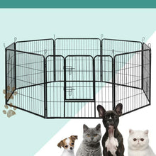 Load image into Gallery viewer, Pet Play Pen, 8 Panel, Black, 80 x 80cm