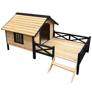 i.Pet Dog Kennel Kennels Outdoor Wooden Pet House Puppy Extra Large XXL Outside