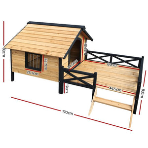 Wooden Dog Kennel, XXL