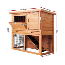 Load image into Gallery viewer, Tall Fir Wood Pet Coop, 86cm