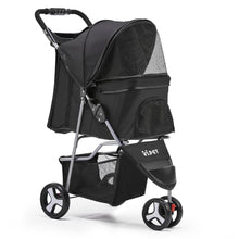 Load image into Gallery viewer, i.Pet 3 Wheel Pet Stroller - Black