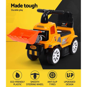 Kids' Ride On Car Loader, Yellow