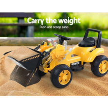Load image into Gallery viewer, Kid's Ride On Bulldozer, Yellow
