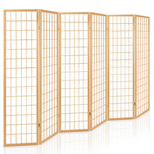Load image into Gallery viewer, Artiss 6 Panel Room Divider Privacy Screen Foldable Pine Wood Stand Natural