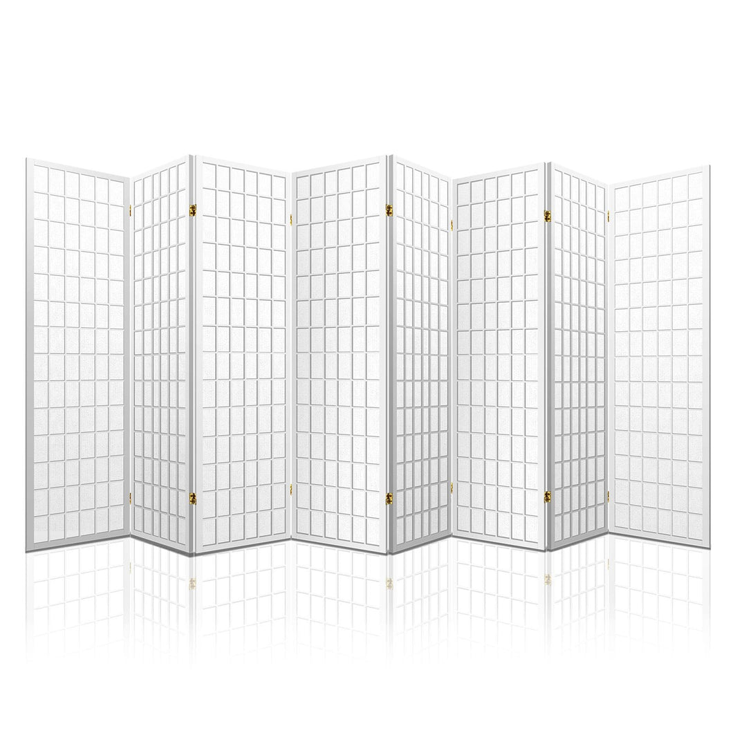 Artiss 8 Panel Room Divider Privacy Screen Dividers Stand Oriental Vintage White