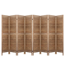 Load image into Gallery viewer, Artiss Room Divider Screen 8 Panel Privacy Wood Dividers Stand Bed Timber Brown