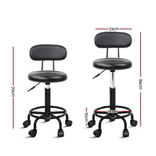 Load image into Gallery viewer, Salon Stool, Hydraulic Lift, Swivel, Black