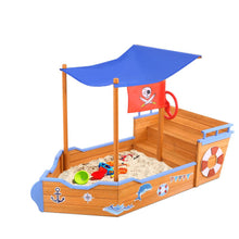 Load image into Gallery viewer, Keezi Boat Sand Pit With Canopy