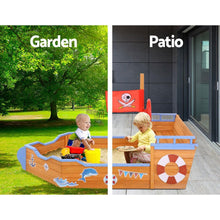 Load image into Gallery viewer, Kids' Wooden Boat Sand Pit