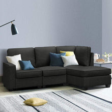 Load image into Gallery viewer, Sofa Lounge, Dark Grey, 4 Seater