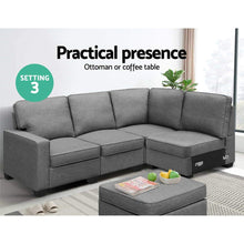 Load image into Gallery viewer, Sofa Lounge, Modular, 5 Seater, Dark Grey