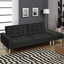Load image into Gallery viewer, Sofa Bed, Fabric, Charcoal, 3 Seater