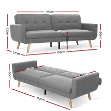 Load image into Gallery viewer, Sofa Bed, Recliner, , 3 Seater, Grey, 197cm