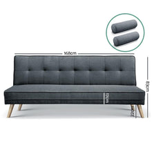 Load image into Gallery viewer, Ally Sofa Bed, 3 Seater, Charcoal