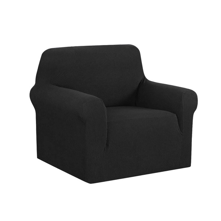 Armchair Cover, High Stretch, 1 Seater, Black