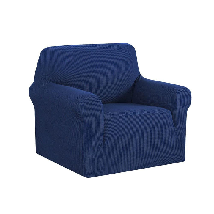 Armchair Cover, High Stretch, 1 Seater, Navy