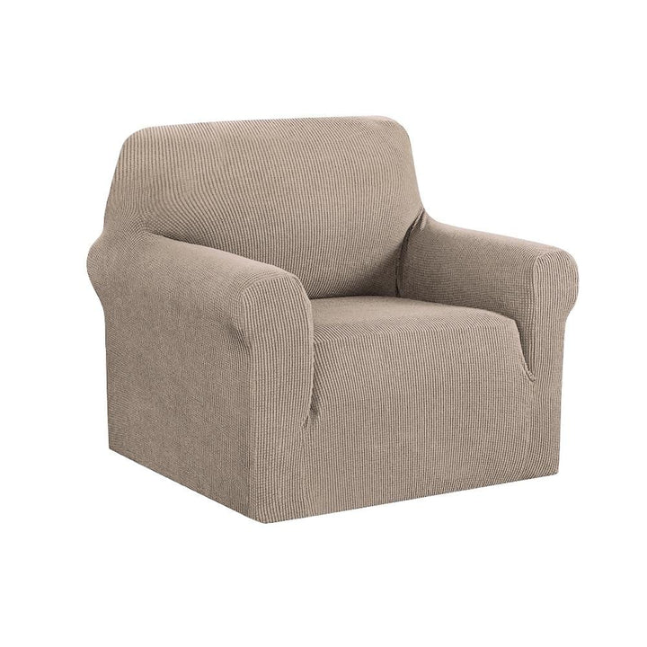 Armchair Cover, High Stretch, 1 Seater, Sand