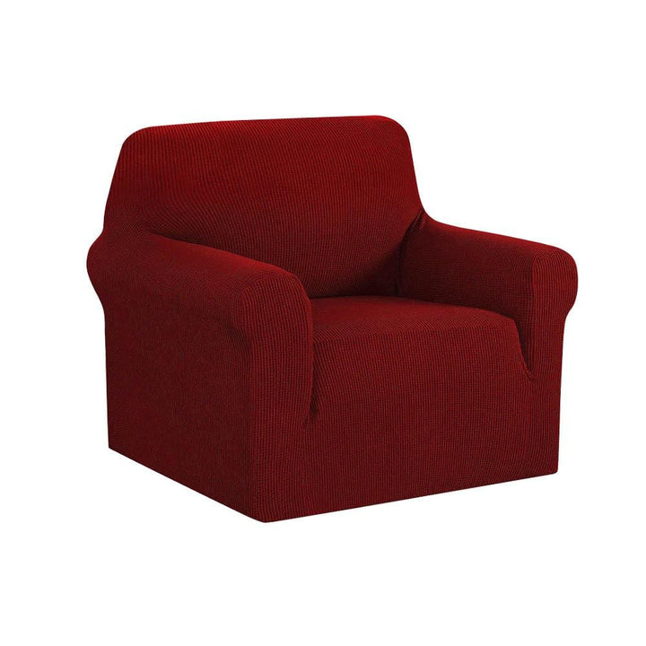 Armchair Cover, High Stretch, 1 Seater, Burgundy