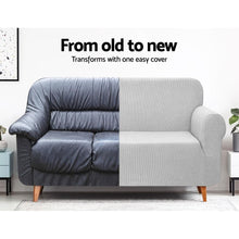 Load image into Gallery viewer, Sofa Cover, High Stretch, 3 Seater, Grey